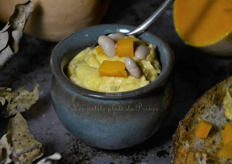 Houmous butternut et haricots blancs