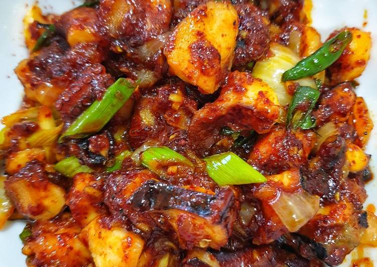 Cumi Pedas Korea / Spicy Stir Fry Octopus