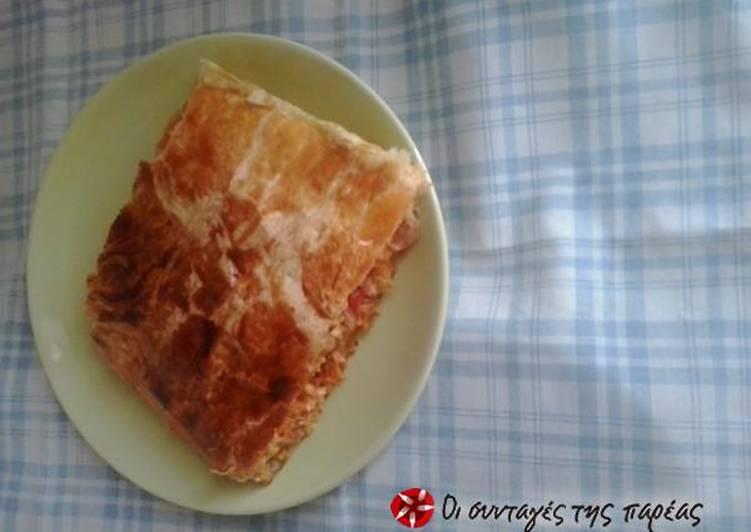 Meat pie with leftovers