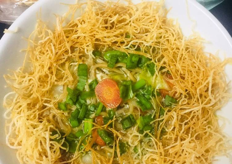 Simple Way to Prepare Homemade Yin Yang Soup Noodles
