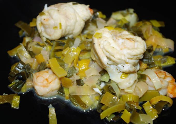 Paupiettes de sole aux crevettes