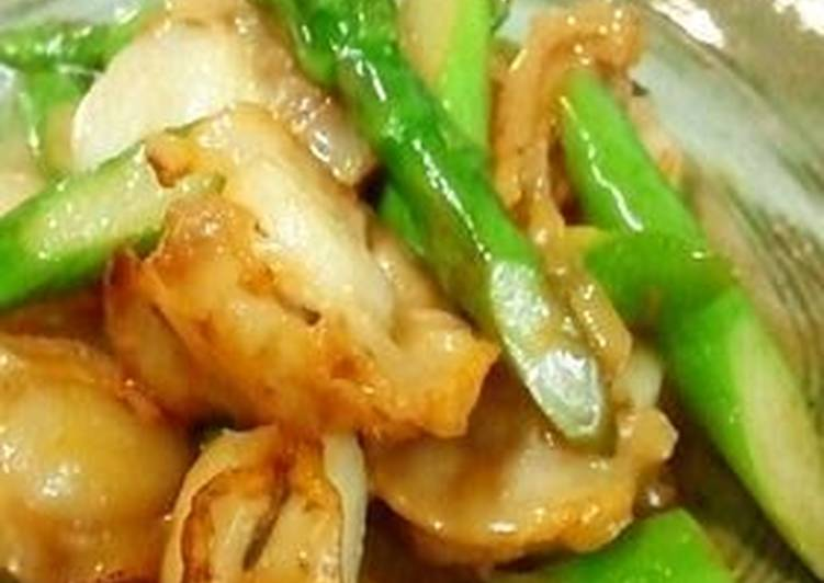 Discover How to Elevate Your Mood with Food Stir Fried Baby Scallops and Asparagus with Butter and Soy Sauce