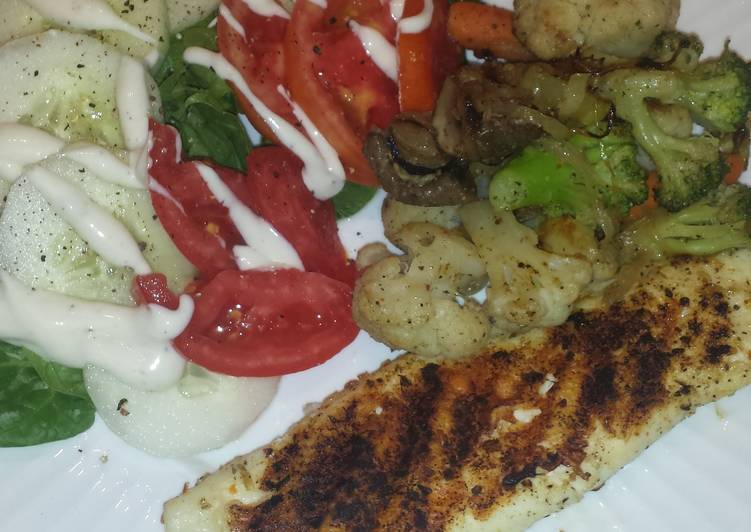 Grilled Tilapia dinner