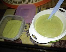 MPASI 6 month ayam jagung nasi daun katuk + cara buat kaldu ayam