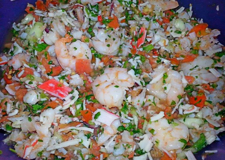 Simple Way to Prepare Quick Ray's' ¤ Shrimp & Crab Ceviche ¤