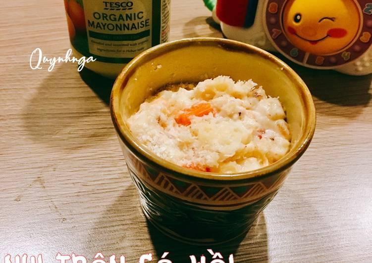 Nui trộn cá hồi nướng Mayonnaise