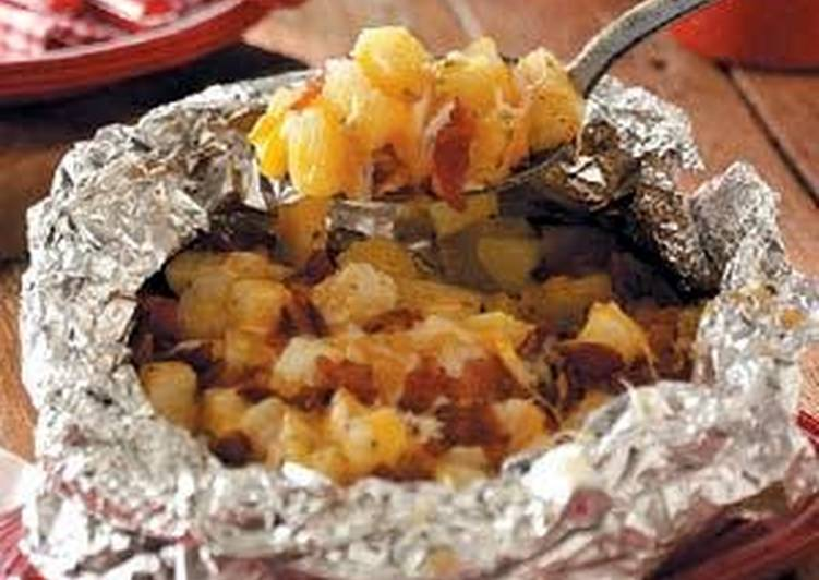 2020 Three Cheese Campfire Potatoes