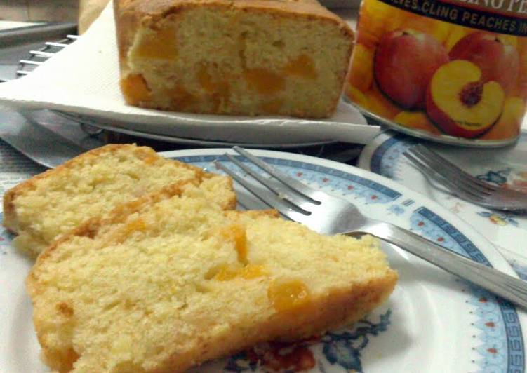 Easy Peach Pound Cake