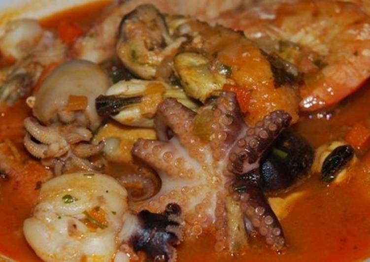 Ricetta Brodetto di pesce con molluschi e crostacei