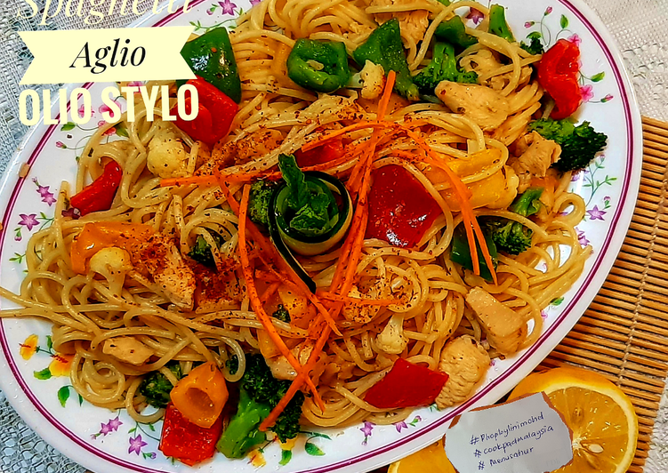Aglio Olio Stylo.#Phopbylinimohd #menusahur #cookpadmalaysia - velavinkabakery.com