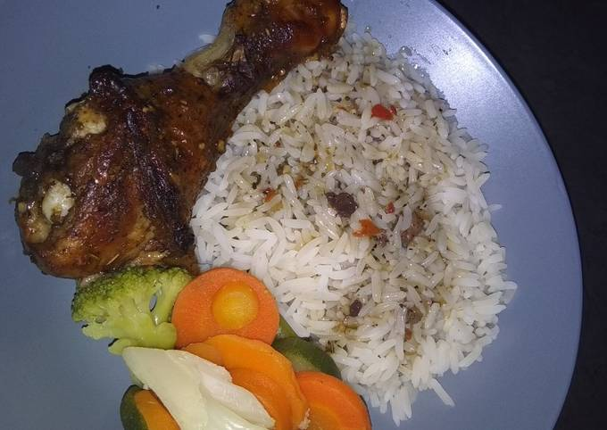 Quick oven grilled chicken