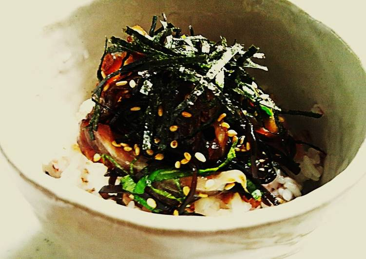 Steps By Me to Feel The Best Shio-Kombu Marinated Red Sea Bream Sashimi and Rice