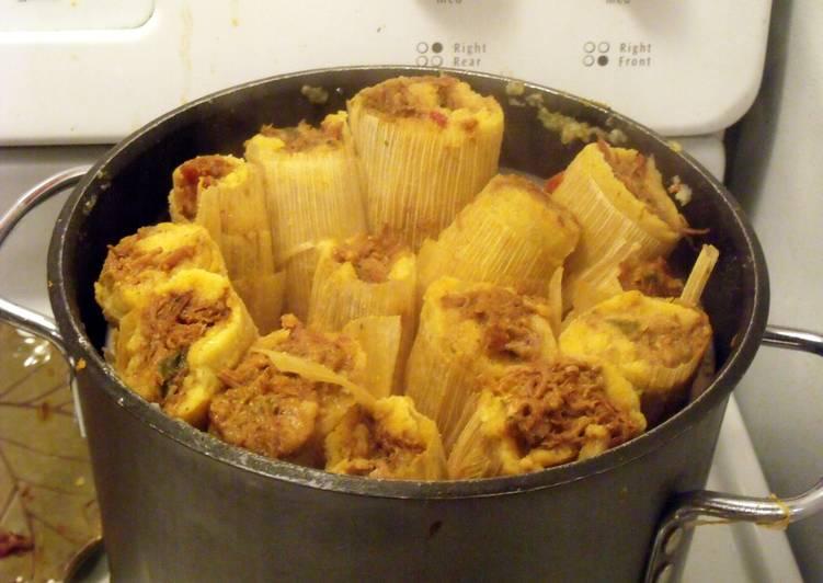 Recipe: Tasty Pork Tamales with Green Olives & Golden Raisins