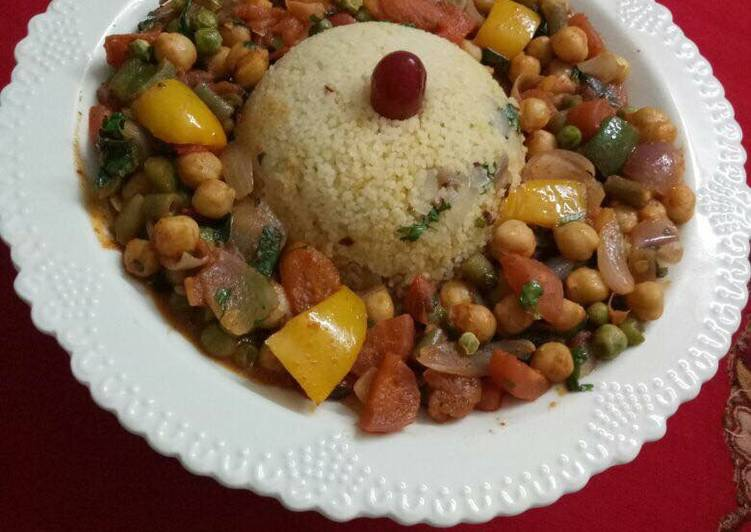 Recipe: Appetizing Moroccan vegetables with Couscous A wonderful vegetarian version of traditional Moroccan dish