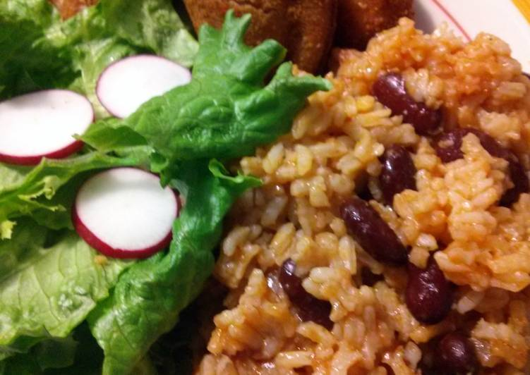 sandra's simple rice with beans