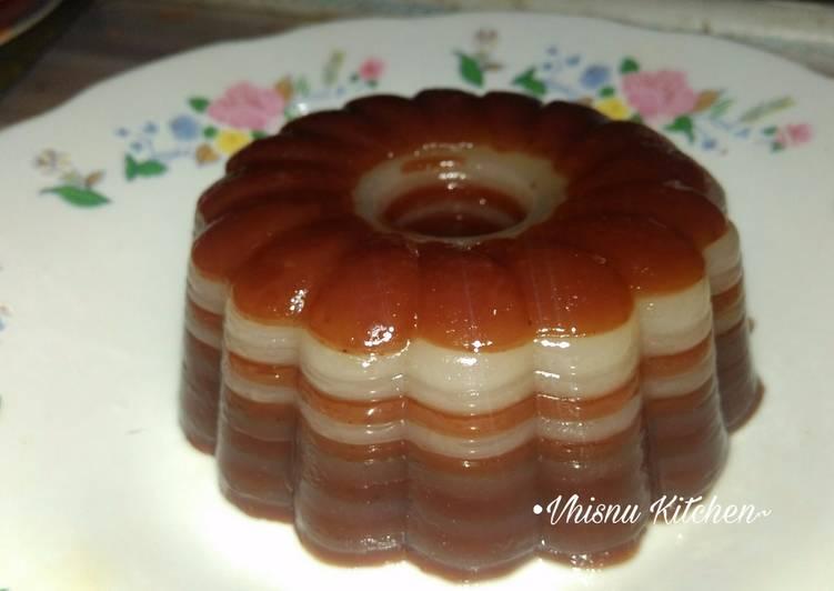 Kue Lapis Tanpa Santan (Maizena lapis Tepung Terigu) - cookandrecipe.com