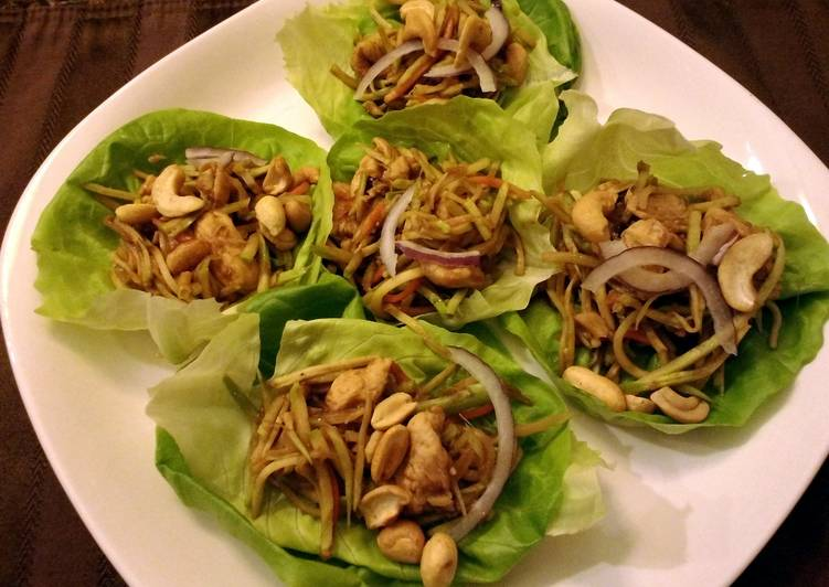 Mu Shu Chicken Lettuce Wraps