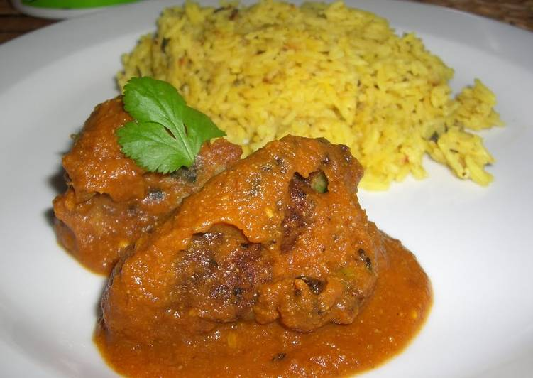 Authentic Indian Kofta Croquet Curry