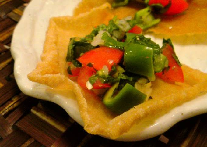 Easy Papad Snack Made with Spring Roll Wrappers
