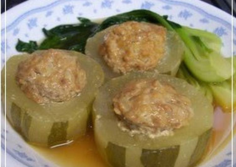 Steps to Prepare Favorite Simmered Green or White Winter Melons, Cabbage Roll-style