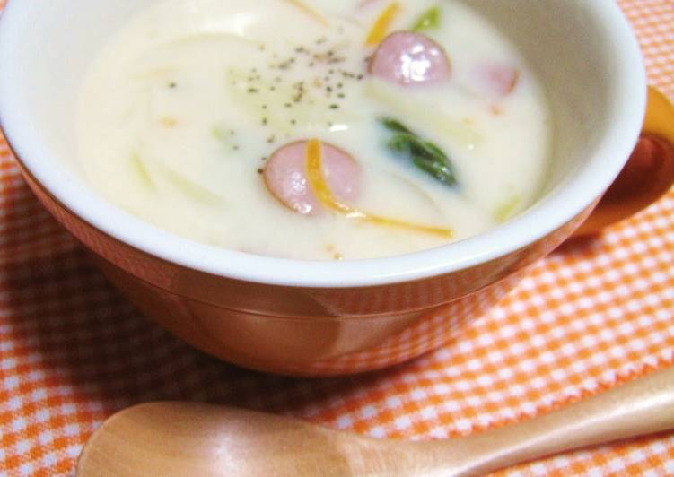 How to Make Any-night-of-the-week Cream Soup Side Dish with Wiener Sausages