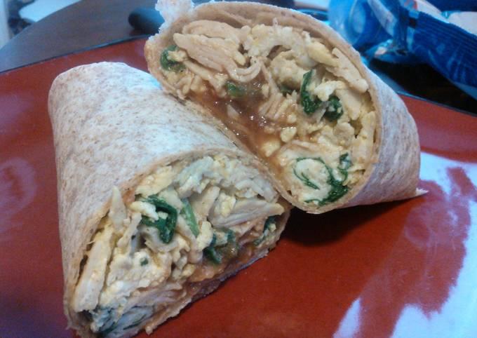 Turkey and Spinach Breakfast Burrito