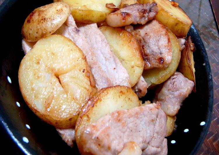 What is Dinner Easy Award Winning New Potatoes and Pork with Rich Butter Soy Sauce
