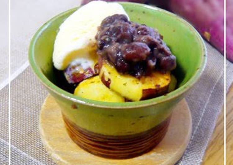 Top 10 Dinner Ideas Autumn Buttered Sweet Potatoes with Sweet Red Beans and Vanilla Ice Cream