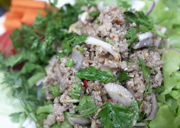 Larb Moo / Thai Spicy Minced Pork Salad