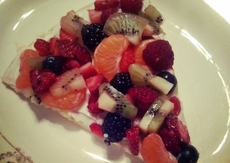 Steps to Make Favorite Easy fruit pizza