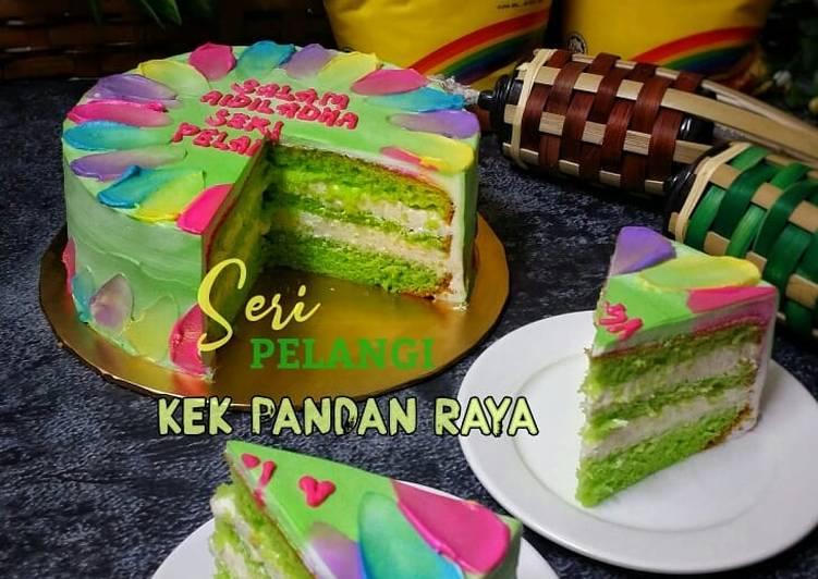 Seri Pelangi Kek Pandan Raya - resepipouler.com