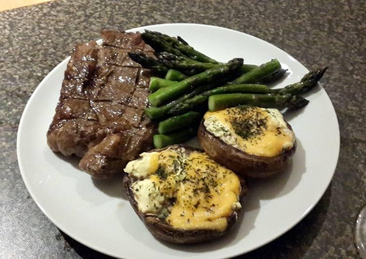 Juicy Rib Eye Steak (Braai)