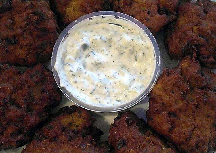 Recipe: Perfect Vickys Onion Bhajis, GF DF EF SF NF