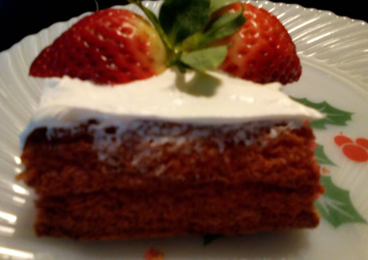 Sunshine's strawberry angel cake