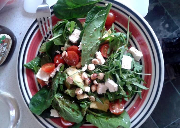 Roasted hazelnut salad