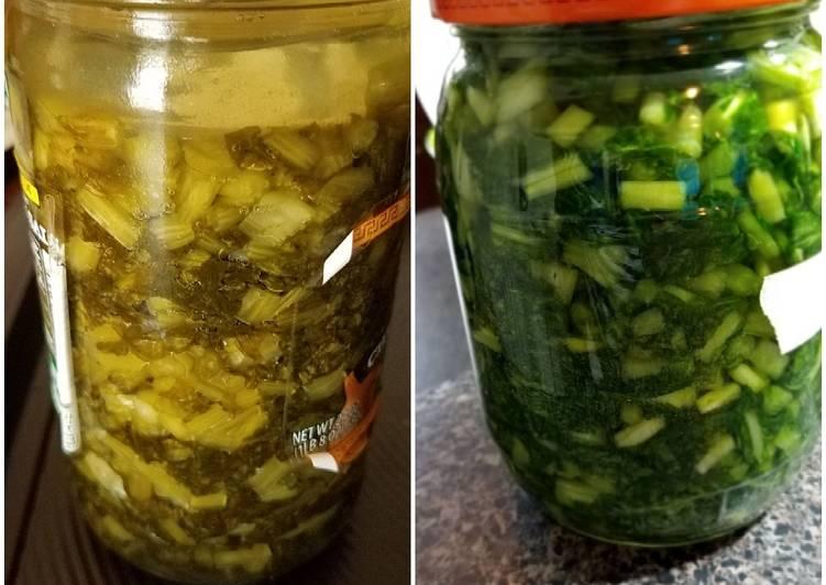 Fermented turnip green 雪菜做法