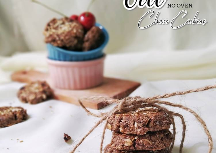 Oat Choco Cookies no Oven (Less Sweet Cookies)