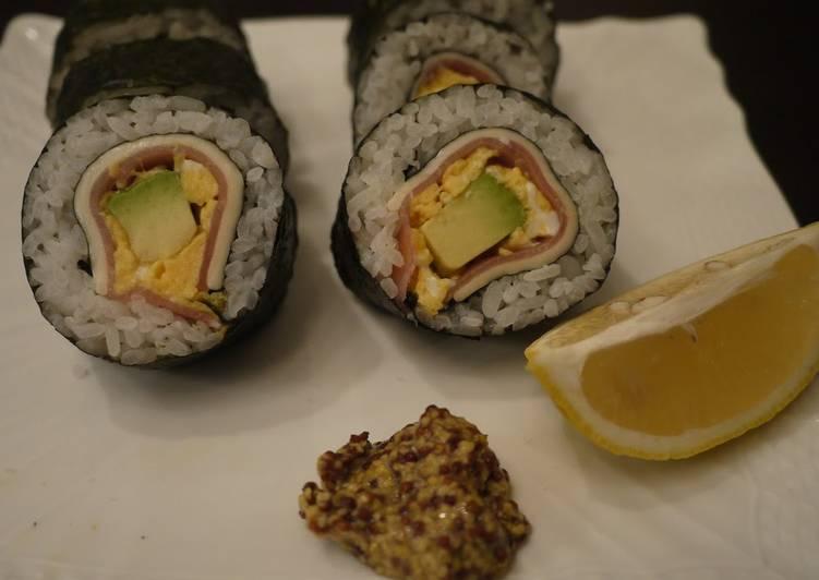 Cured Ham Salad Sushi Rolls [Ehoumaki for Setsubun]