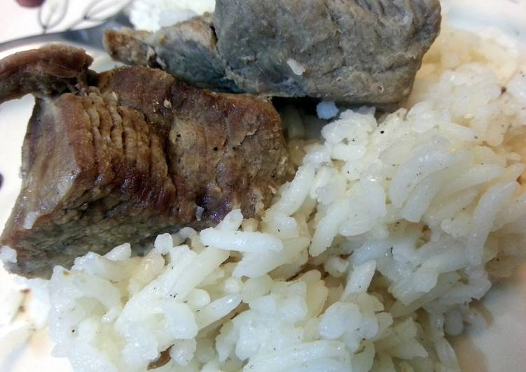 smoked rice with beef