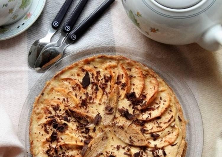 Tarte aux pommes et à la crème de pommes, bio sans gluten, sans lait, sans oeufs