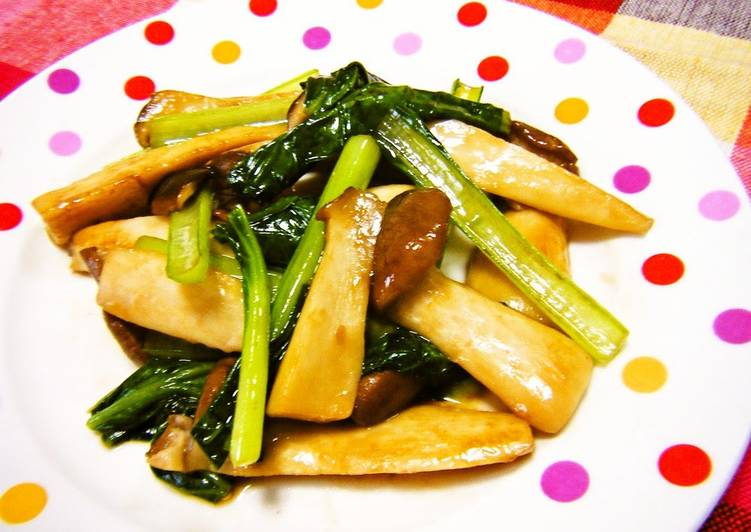 Picking The Right Foods May Help You Stay Fit And Healthy Komatsuna and King Oyster Mushrooms Sautéed in Oyster Sauce and Mayonnaise