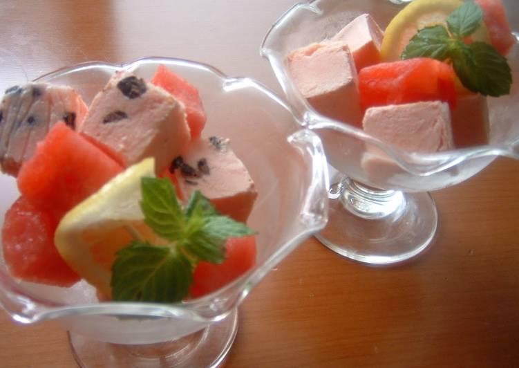 How to Prepare Appetizing Cubed Watermelon Parfait ♪