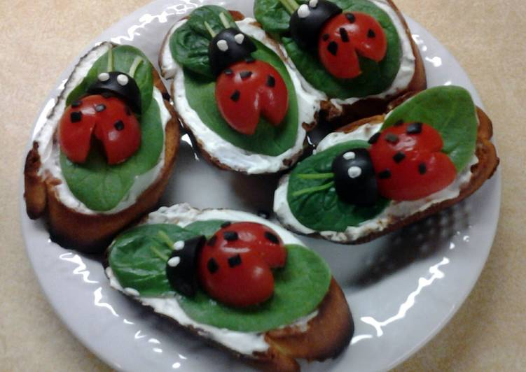Easiest Way to Cook Yummy Lady Bug Crostini Snacks