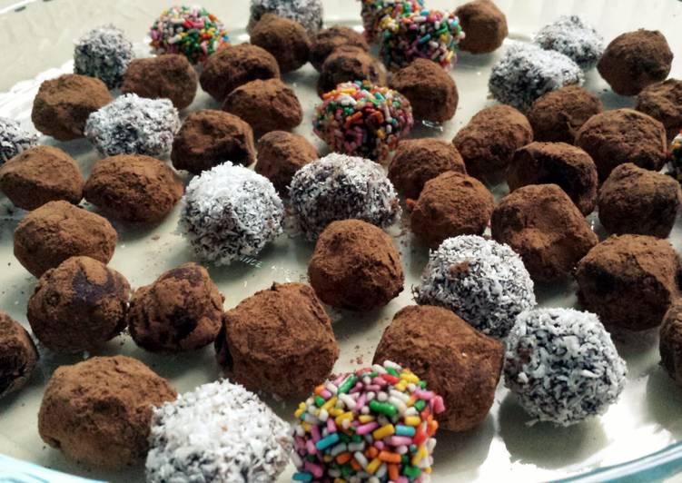 Recipe: Delicious Mint Chocolate Truffles