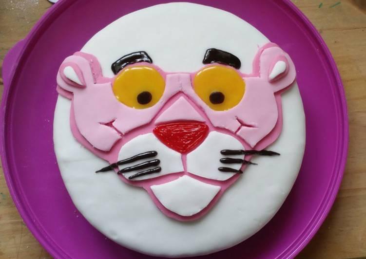 Pink Panther Birthday Cake