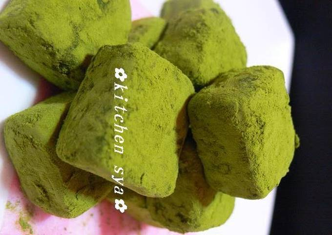 Recipe of Perfect Chocolate Matcha Truffles
