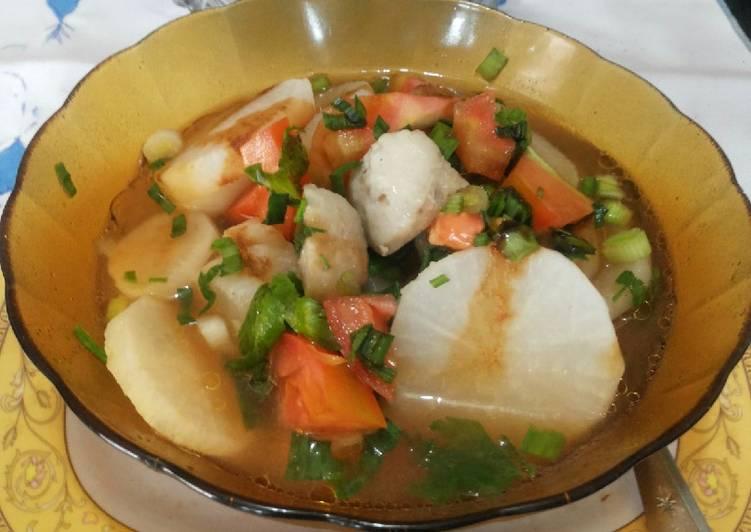 Resep Soto Bandung bakso ikan Yang Populer Sedap