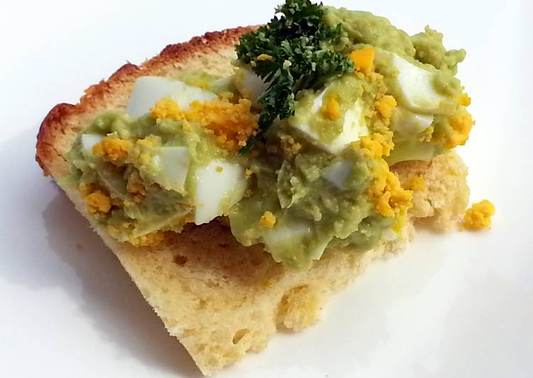 Recipe: Appetizing Avocado Egg Salad / Mayonaise Free