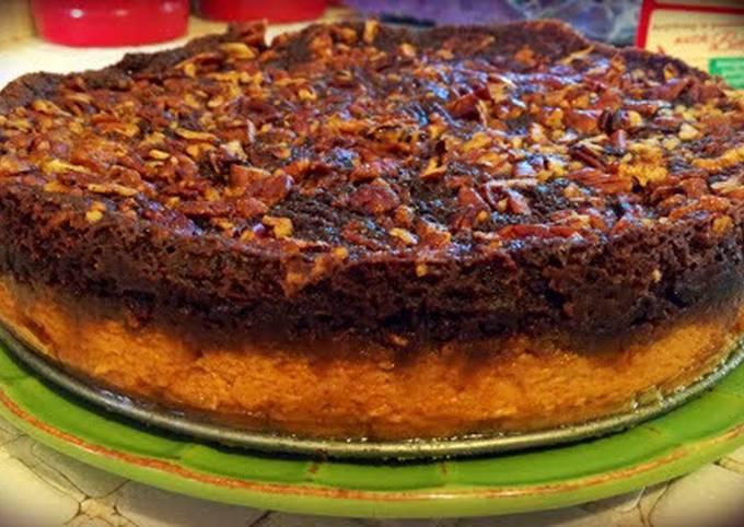 chocolate Pumpkin Pecan Crunch Cake