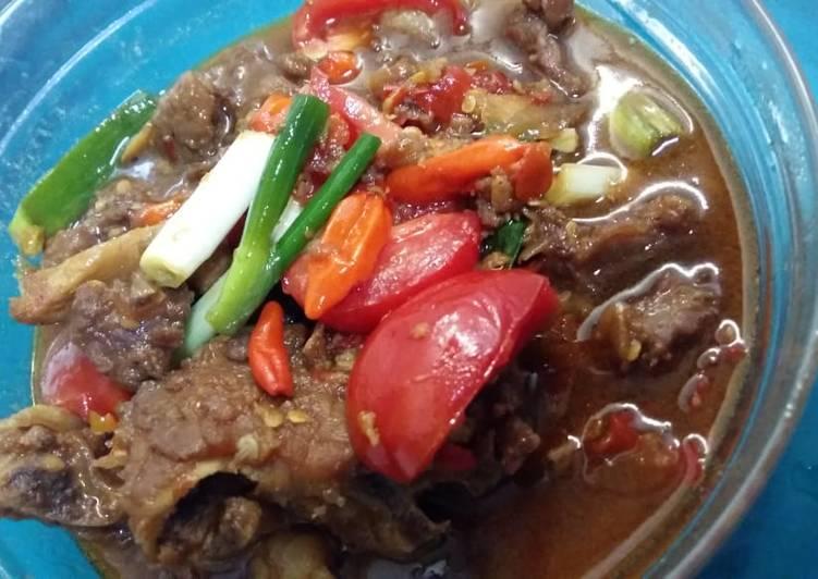 Tongseng daging kambing tnp santan